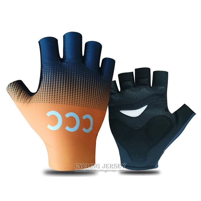 2021 CCC Team Gloves Cycling Orange Black