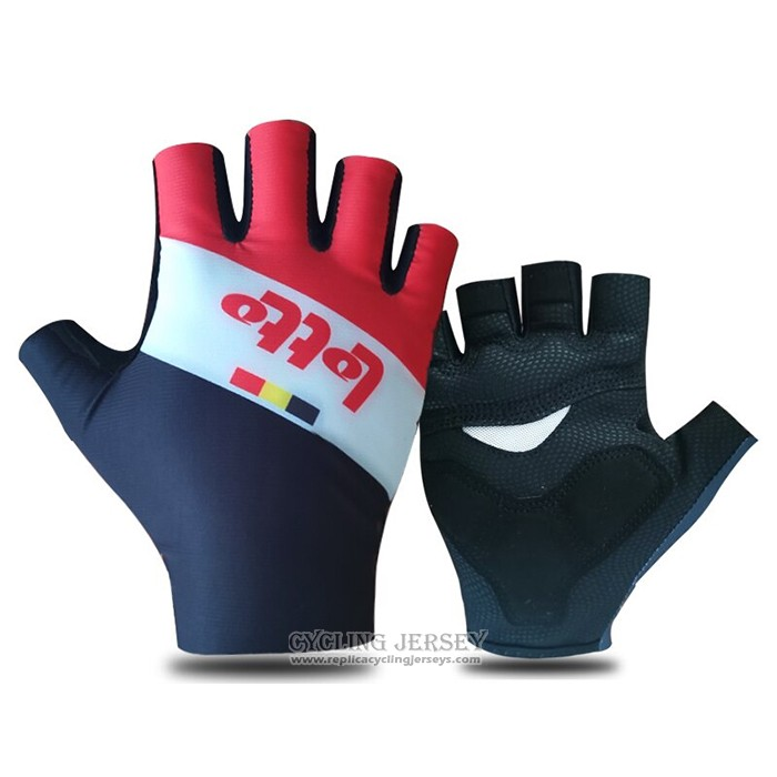 2021 Lotto Soudal Gloves Cycling Red White Black