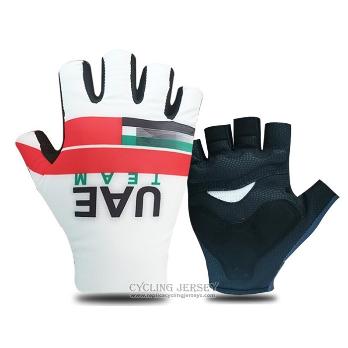 2021 UAE Gloves Cycling White Red