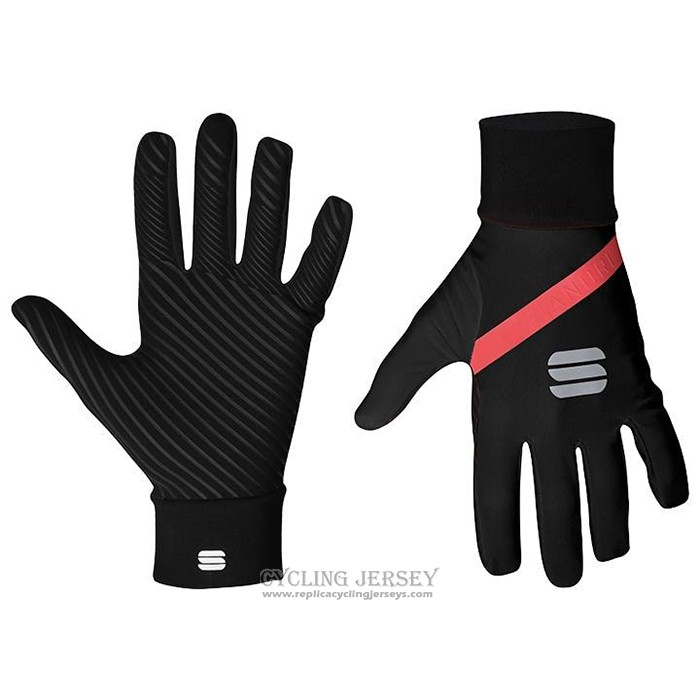 2021 Sportful Full Finger Gloves Cycling Red