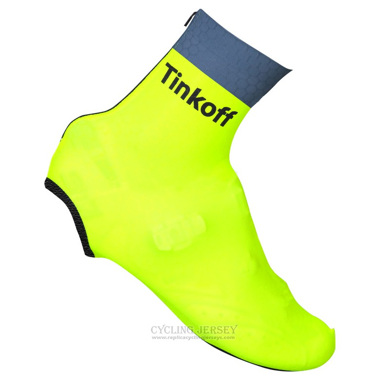 2016 Saxo Bank Tinkoff Shoes Cover Cycling Yellow and Gray