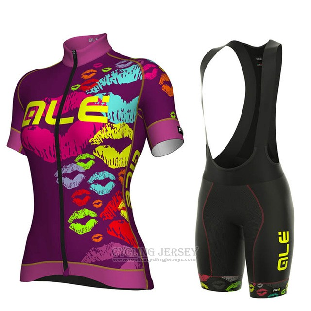 2018 Cycling Jersey ALE Fuchsia Short Sleeve and Bib Short