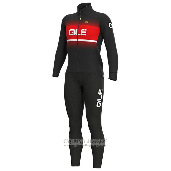 2020 Cycling Jersey Ale Red Black Long Sleeve And Bib Tight(1)