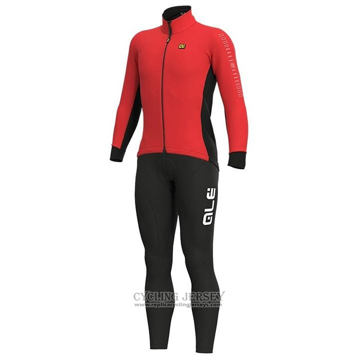 2020 Cycling Jersey Ale Red Long Sleeve And Bib Tight