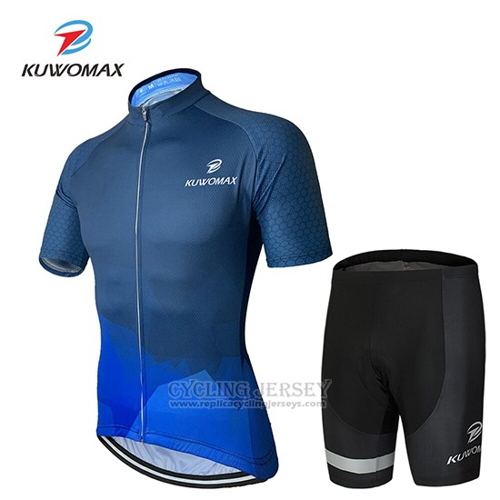 2019 Cycling Clothing Kuwomax Blue Short Sleeve and Overalls