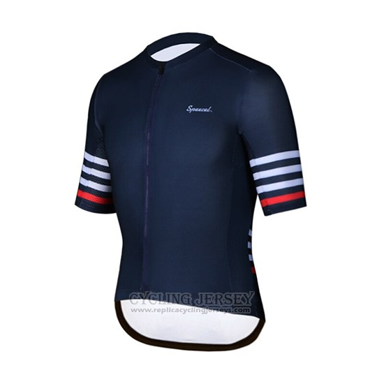 2019 Cycling Clothing Spexcel Dark Blue Short Sleeve and Overalls