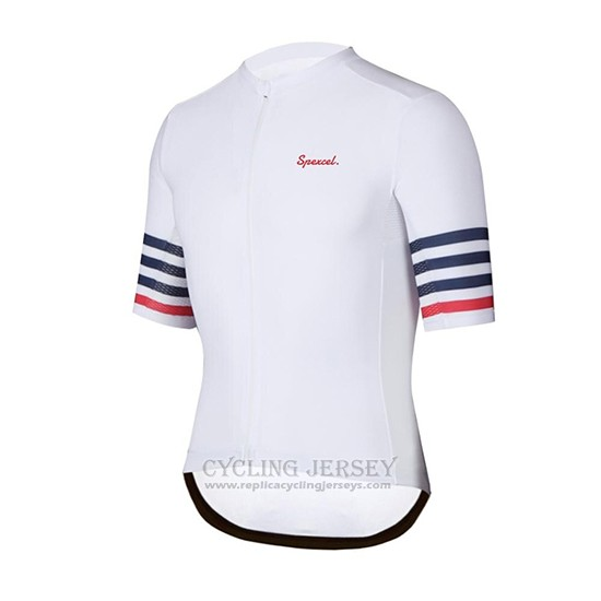 2019 Cycling Clothing Spexcel White Short Sleeve and Overalls