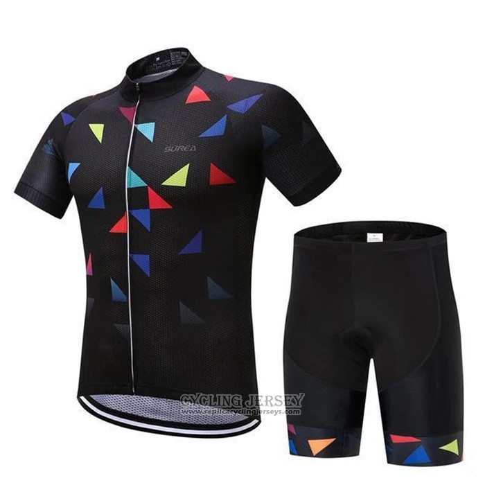 2020 Cycling Jersey Algrita Black Short Sleeve And Bib Short