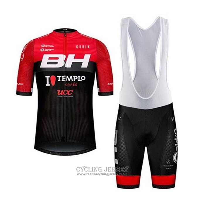 2020 Cycling Jersey Bh Templo Cafes Ucc Black Red Short Sleeve And Bib Short