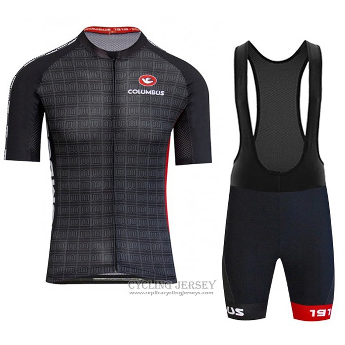 2020 Cycling Jersey Columbus Black Short Sleeve And Bib Short