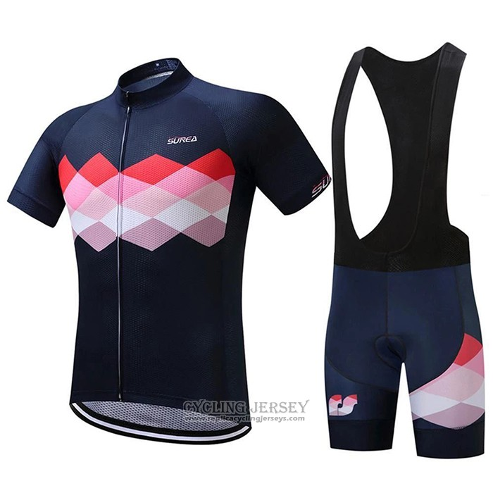 2020 Cycling Jersey Eddie Black Red Short Sleeve And Bib Short