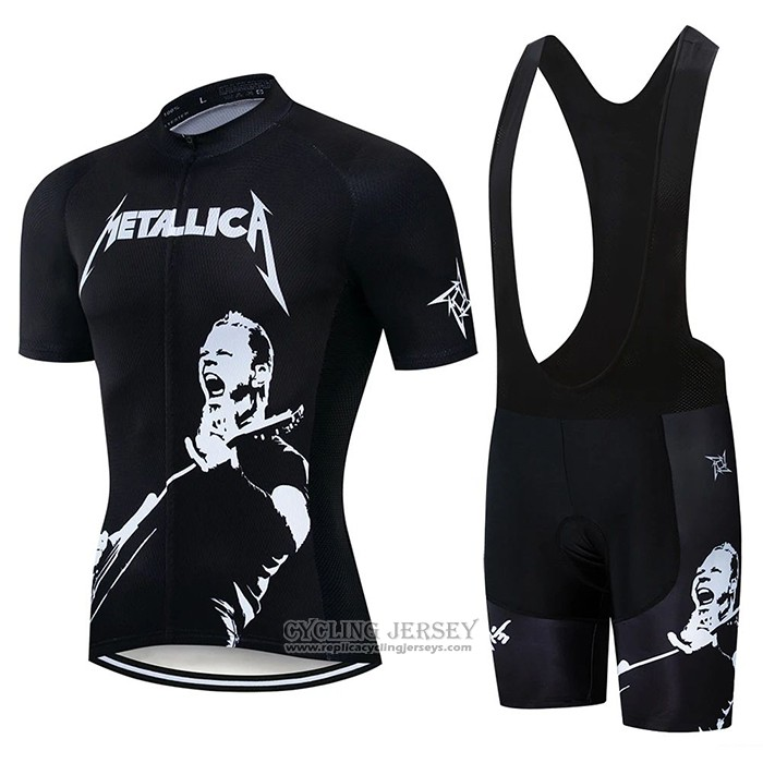 2020 Cycling Jersey James Black Short Sleeve And Bib Short