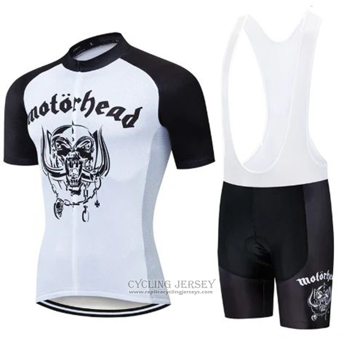 2020 Cycling Jersey Lemmy Black White Short Sleeve And Bib Short