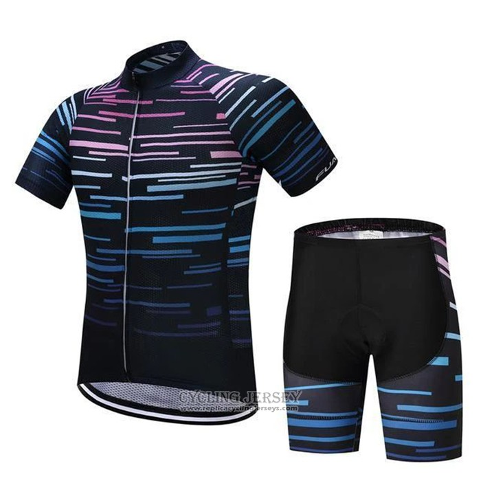 2020 Cycling Jersey Octos Blue Short Sleeve And Bib Short