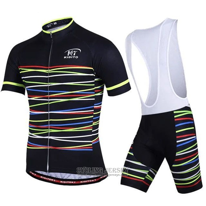 2020 Cycling Jersey Ripple Black Yellow Short Sleeve And Bib Short