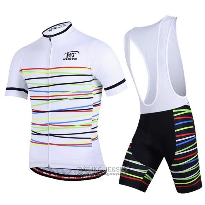 2020 Cycling Jersey Ripple White Short Sleeve And Bib Short