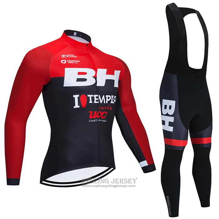 2021 Cycling Jersey Bh Templo Red Black Long Sleeve And Bib Tight