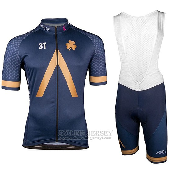 2018 Cycling Jersey Aqua Blue Sport Short Sleeve and Bib Short