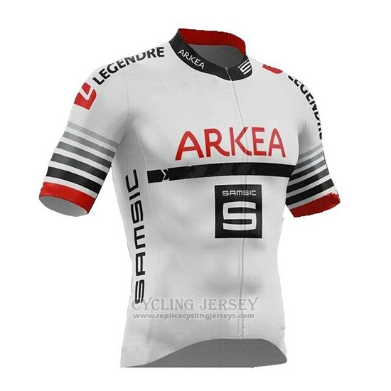 2019 Cycling Jersey Arkea Samsic White Red Short Sleeve and Bib Short