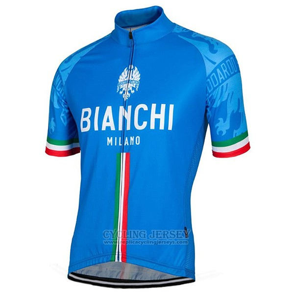 2017 Cycling Jersey Bianchi Blue Short Sleeve and Bib Short