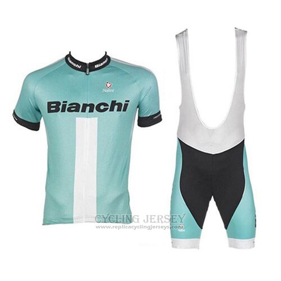 2017 Cycling Jersey Bianchi Green Short Sleeve and Bib Short