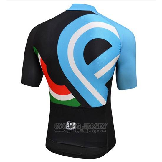 2018 Cycling Jersey Bici Amore Mio Black and Blue Short Sleeve and Bib Short