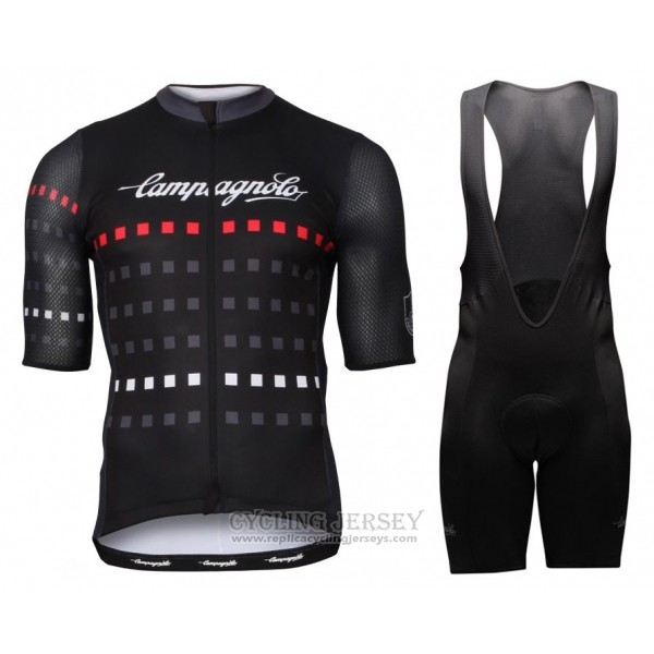 2018 Cycling Jersey Campagnolo Black Short Sleeve and Bib Short