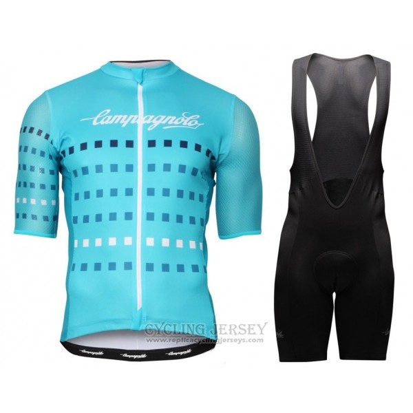 2018 Cycling Jersey Campagnolo Sky Blue Short Sleeve and Bib Short
