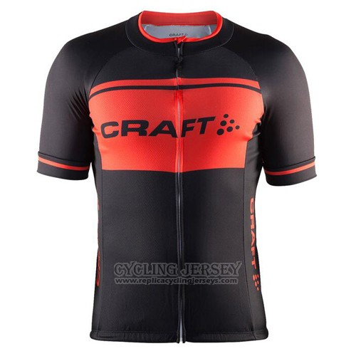 2016 Cycling Jersey Craft Black and Orange Short Sleeve and Bib Short