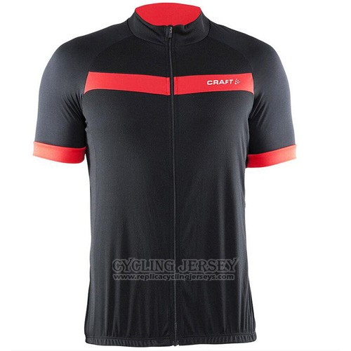 2016 Cycling Jersey Craft Black and Red Short Sleeve and Bib Short
