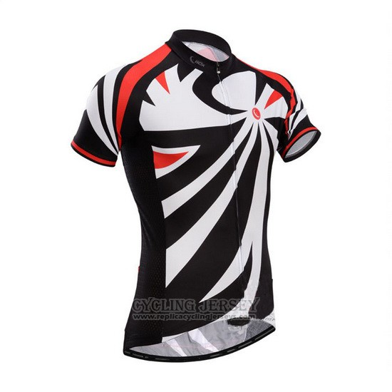2014 Cycling Jersey Fox Cyclingbox Black and White Short Sleeve and Bib Short
