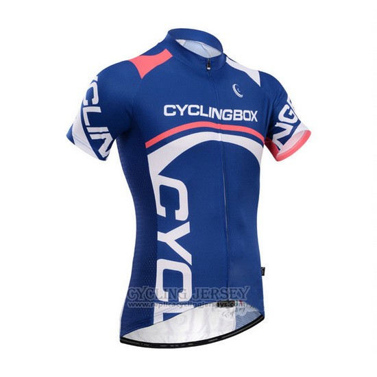 2014 Cycling Jersey Fox Cyclingbox Blue Short Sleeve and Bib Short