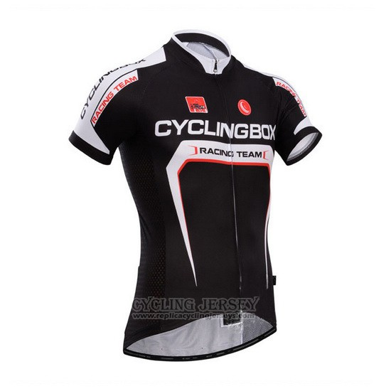 2014 Cycling Jersey Fox Cyclingbox Deep Black Short Sleeve and Bib Short