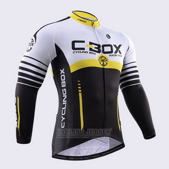 2015 Cycling Jersey Fox Cyclingbox Black and White Long Sleeve and Bib Tight