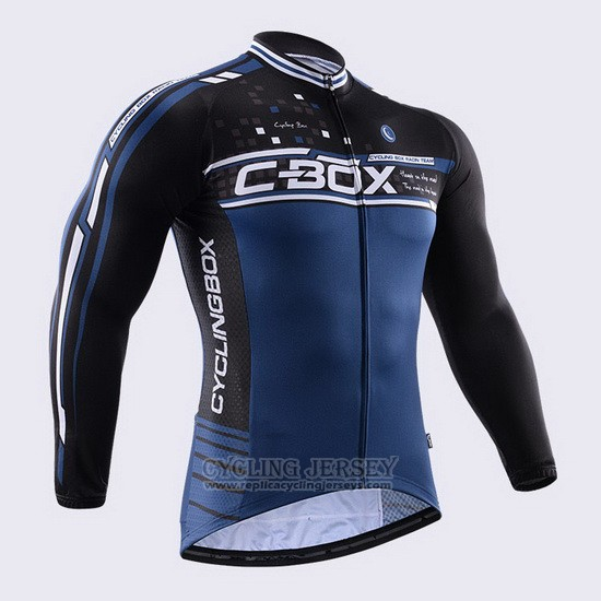 2015 Cycling Jersey Fox Cyclingbox Blue Long Sleeve and Bib Tight