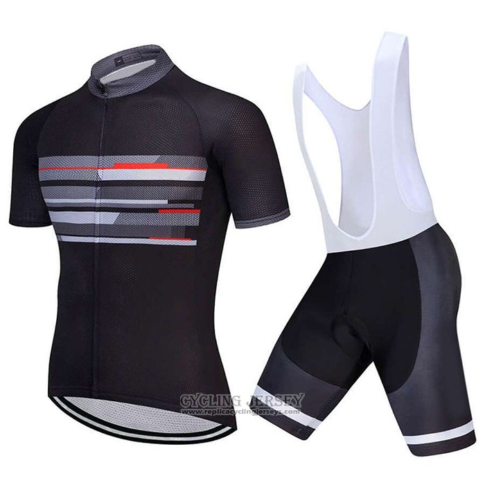 2021 Cycling Jersey Factory Stock Black Short Sleeve And Bib Short