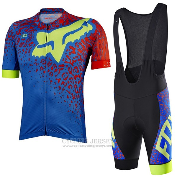 2017 Cycling Jersey Fox Ascent Comp Blue Short Sleeve and Bib Short