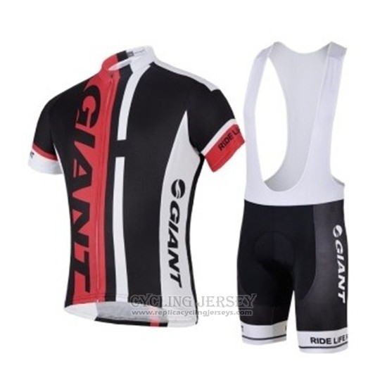 2018 Cycling Jersey Giant Black Red Short Sleeve Salopette