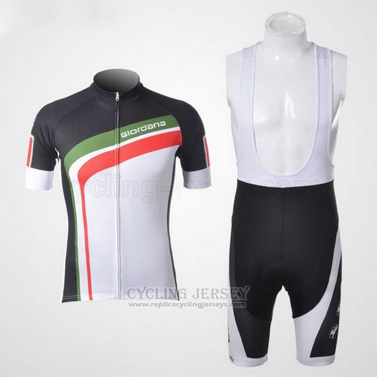 2012 Cycling Jersey Giordana Green and Black Short Sleeve and Bib Short