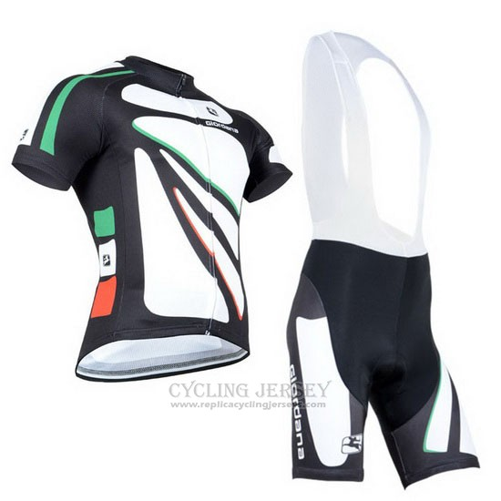 2014 Cycling Jersey Giordana Black and White Short Sleeve and Bib Short