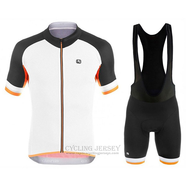 2017 Cycling Jersey Giordana Silver Line Black and White Short Sleeve and Bib Short