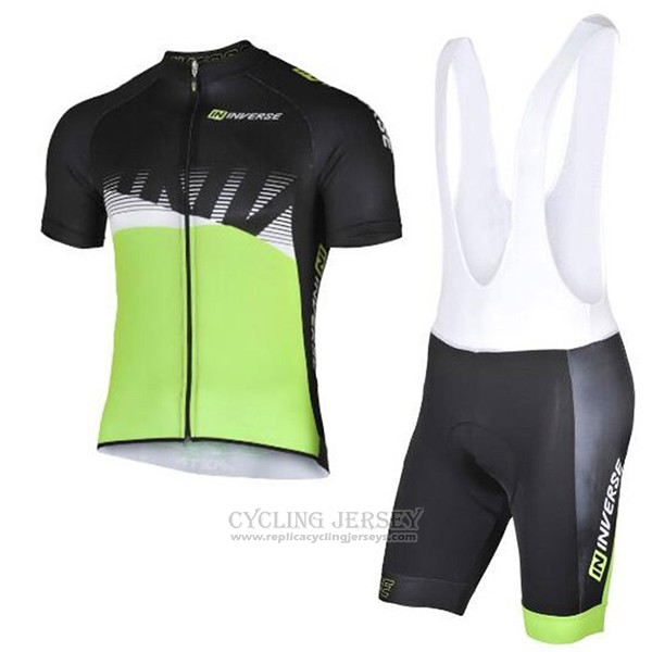 2017 Cycling Jersey Inverse Black and Green Short Sleeve and Bib Short