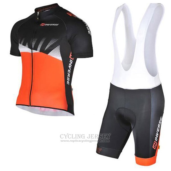 2017 Cycling Jersey Inverse Black and Orange Short Sleeve and Bib Short