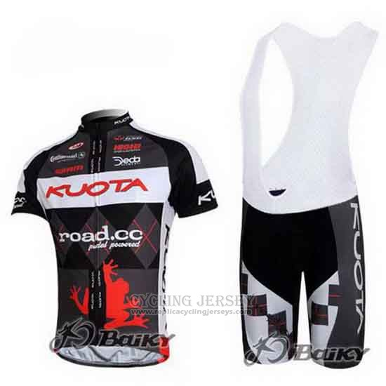 2011 Cycling Jersey Kuota Black and White Short Sleeve and Bib Short