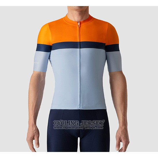 2019 Cycling Jersey La Passione Orange Blue Short Sleeve And Bib Short