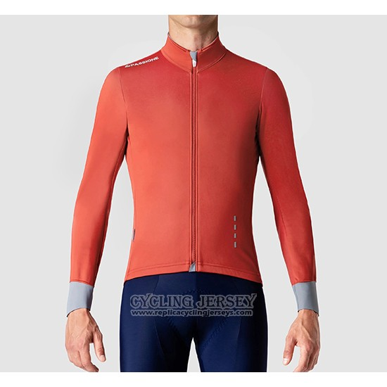 2019 Cycling Jersey La Passione Orange Gray Long Sleeve And Bib Tight