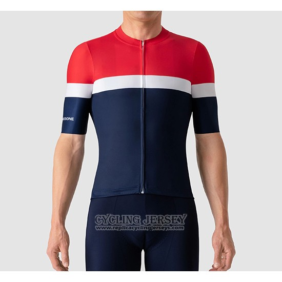 2019 Cycling Jersey La Passione Red White Blue Short Sleeve And Bib Short