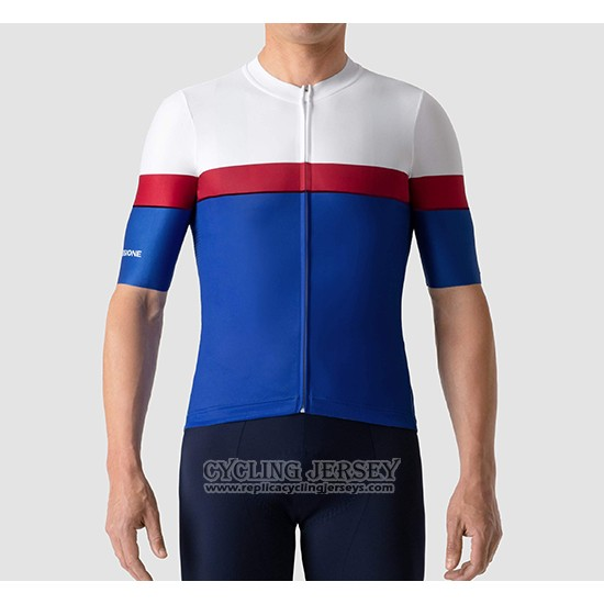 2019 Cycling Jersey La Passione White Red Blue Short Sleeve And Bib Short