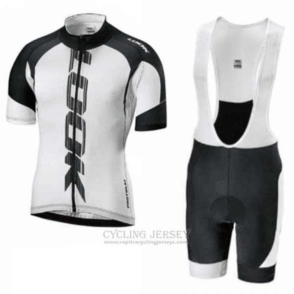2018 Cycling Jersey Look Black White Short Sleeve Salopette