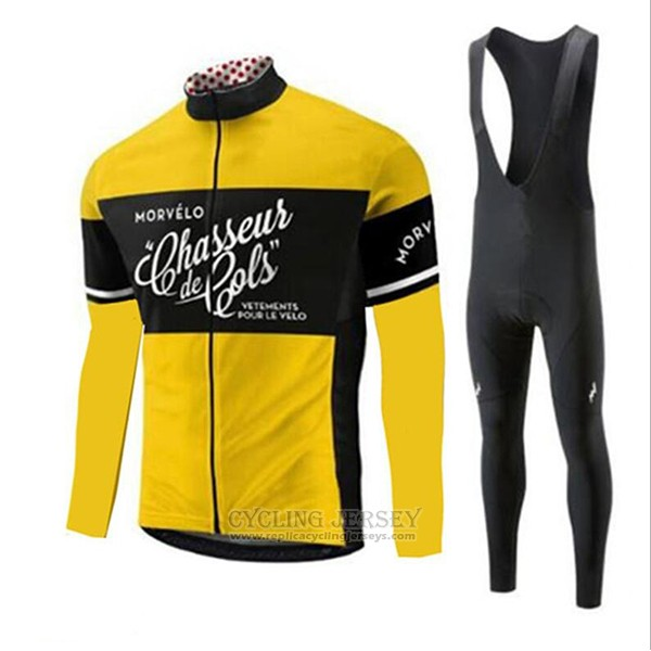 2018 Cycling Jersey Morvelo Yellow Short Sleeve and Bib Short